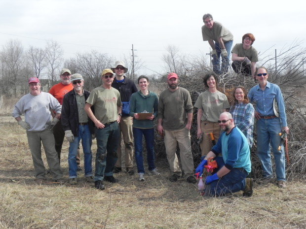 "First 2016 Volunteer Work Day ""Frees"" Prairie Nursery"
