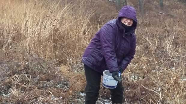 Alliance Volunteers Plant New Prairie at Badger